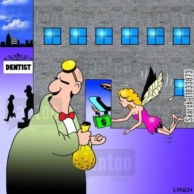 dental health cartoon humor: The Tooth Fairy