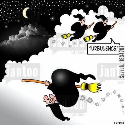 turbulent cartoon humor: 'Turbulence!'