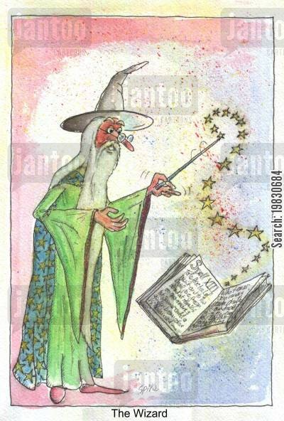sorcerers cartoon humor: The Wizard.