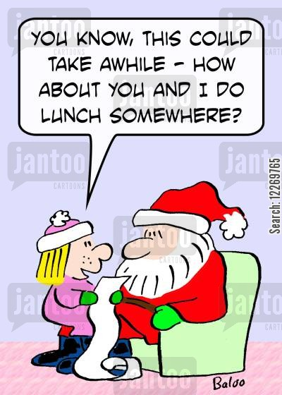 lunch dates cartoon humor: 'You know, this could take awhile - how about you and I do lunch somewhere?'