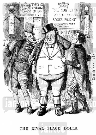 benjamin disraeli cartoon humor: Controversy over 1858 Government of India Bill