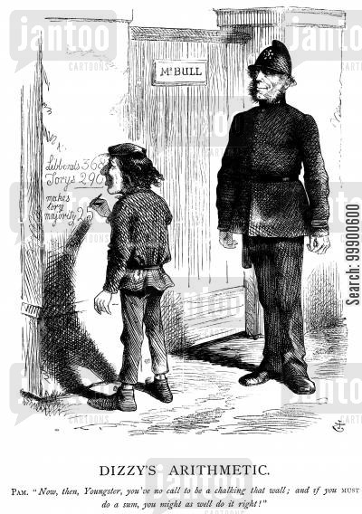 lord palmerston cartoon humor: Conservatives lose 25 Seats in 1865 Election