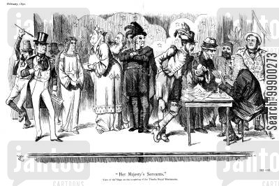 actor cartoon humor: Parliament Opens, 1892