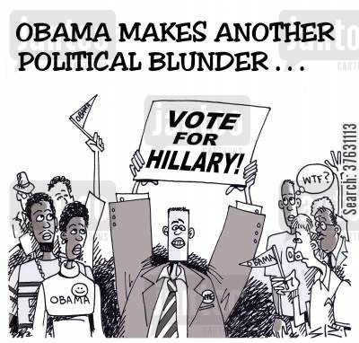 american elections cartoon humor: Obama Makes Another Political Blunder,,,