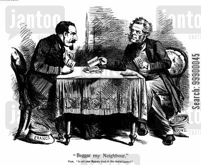 lord palmerston cartoon humor: Anglo-French Naval Rivalry,1861