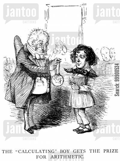 arithmetic cartoon humor: Disraeli's First Budget