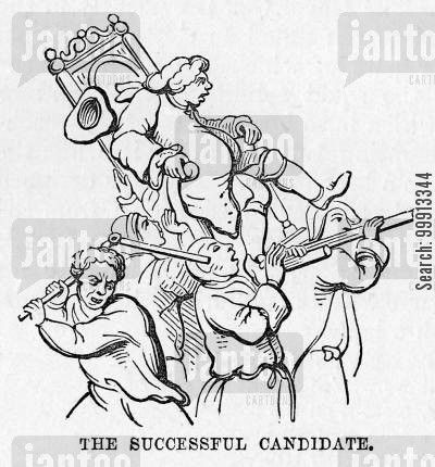 elections cartoon humor: The Successful Candidate