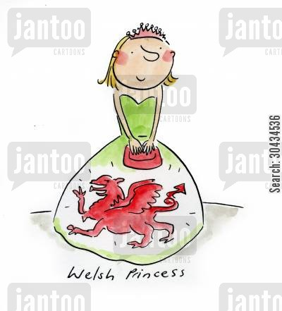 red dragon cartoon humor: Welsh Princess