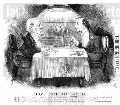 1874 cartoon humor: Disraeli Reticent on Conservative Policy in Run-Up to 1874 Election