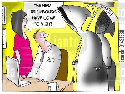pfi cartoon humor: Not everyone welcomed the Darzi clinics
