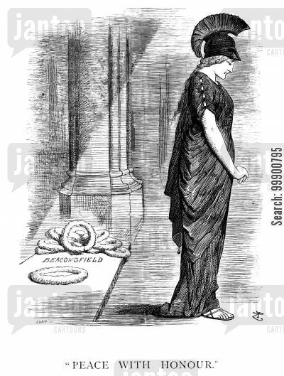 funeral cartoon humor: Disraeli's Death