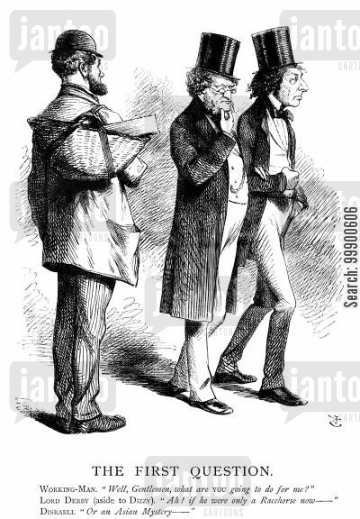 disraelian conservatism cartoon humor: Third Derby-Disraeli Ministry: The Dilemma of Reform