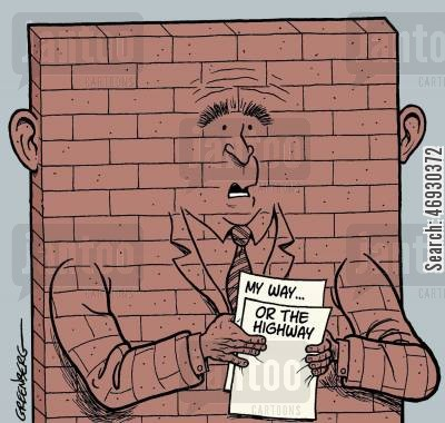 george w cartoon humor: Bush wall.