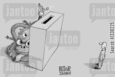presidential elections cartoon humor: Election Monsters.