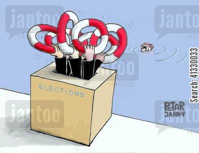 presidential elections cartoon humor: Elections.