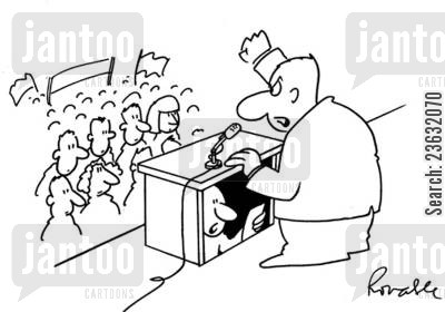 public speaking cartoon humor: Politic.
