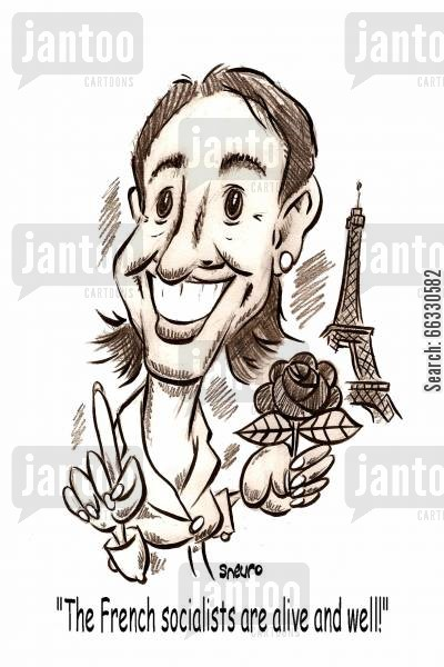 eiffel tower cartoon humor: The French socialists are alive and well!.