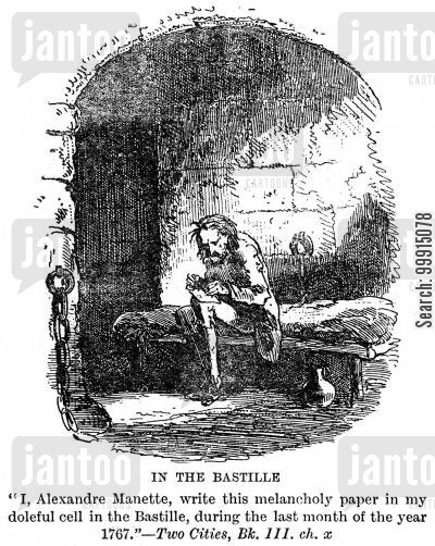dr manette cartoon humor: In The Bastille