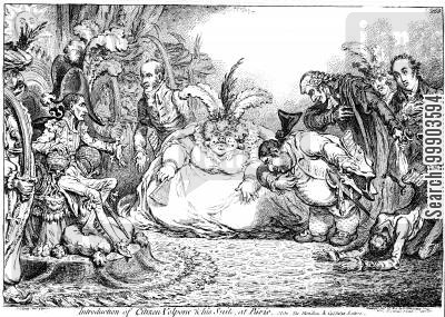 charles fox cartoon humor: Charles James Fox Received by Bonaparte at the Tuileries