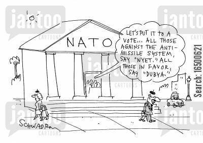 fixed outcome cartoon humor: Voting at Nato