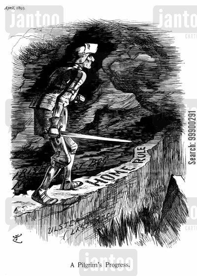 william gladstone cartoon humor: Gladstone and Home Rule - 'A Pilgrim's Progress'