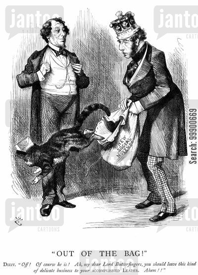 trade union cartoon humor: Disraeli and Social Reform