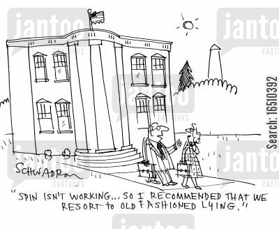 old fashioned method cartoon humor: 'Spin isn't working...so I recommended that we resort to old fashioned lying.'