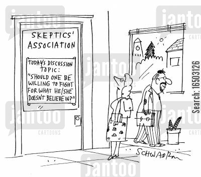 principles cartoon humor: The Skeptics' Association.
