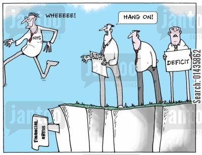 cliff edge cartoon humor: The future of the NHS