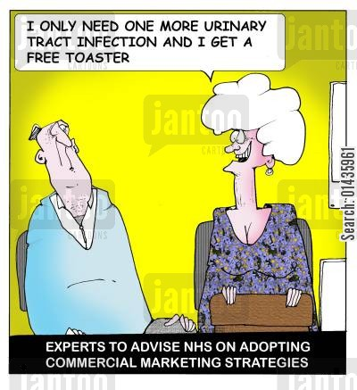 commercialization cartoon humor: Experts to advise NHS on adopting commercial marketing strategies