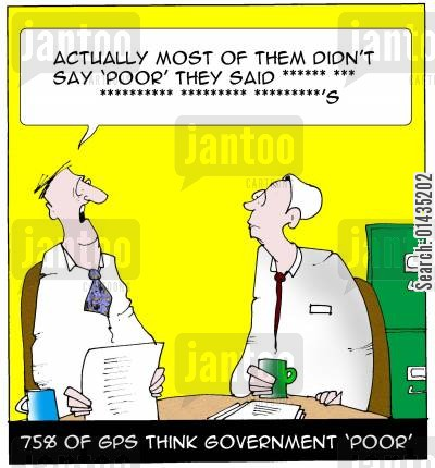 political intervention cartoon humor: Gps are not too fond of Government