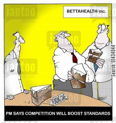 boost cartoon humor: PM Says Competition Will Boost Standards.