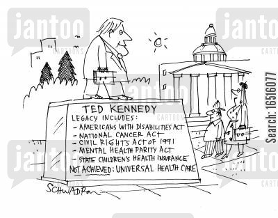 health bills cartoon humor: Ted Kennedy
