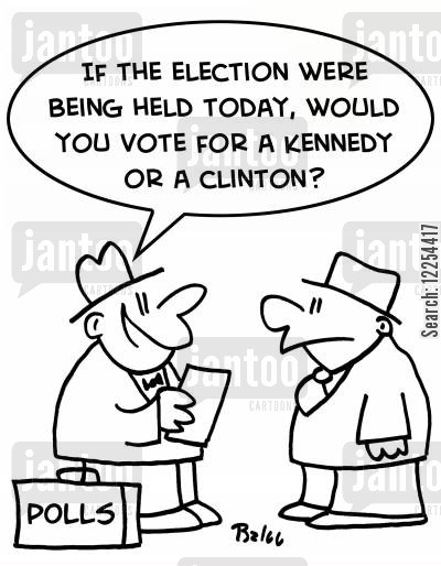 caroline kennedy cartoon humor: 'If the election were being held today, would you vote for a Kennedy or a Clinton?'