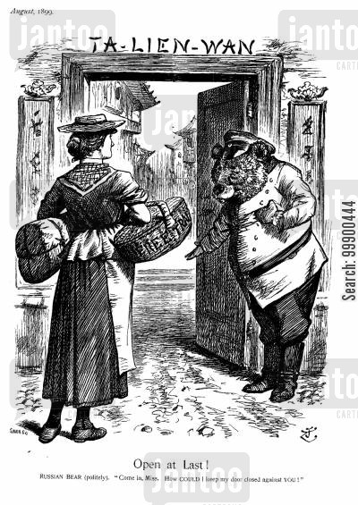 anglo-russian rivalry cartoon humor: Anglo-Russian Trade Rivalry in China Resolved
