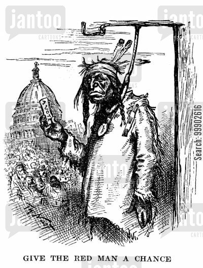 suffrage cartoon humor: Native Americans Deserve the Vote