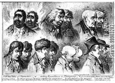 whig party cartoon humor: Caricatures of Leading English Radicals
