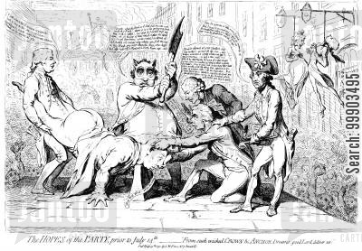 charles james fox cartoon humor: The Regicidal Ambitions of English Radicalism (2nd Anniversary of Fall of Bastille)