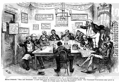horace greeley cartoon humor: Liberal Republican Party - 'The Cincinatti Convention, in a Pickwickian Sense'