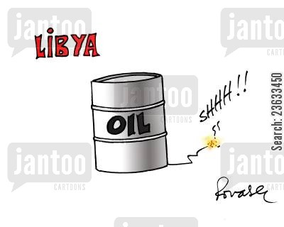 revolutions cartoon humor: Libyan Oil