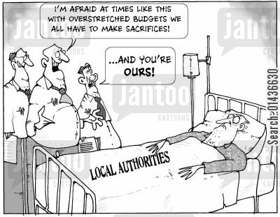 local authorities cartoon humor: The Sacrifice of Local Authorities