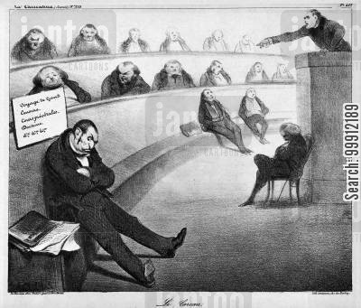 governments cartoon humor: The Pillory - Attack on François Guizot's political past