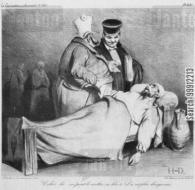 king of the french cartoon humor: Louis-Philippe allowing a dead republican to be released as he 'is no longer dangerous'