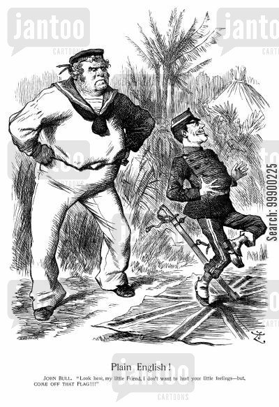 mozambique cartoon humor: British Disputes with Portugal over Delagoa Railway