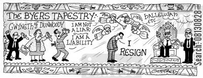 bayeaux tapestry cartoon humor: The Byers Tapestry 4