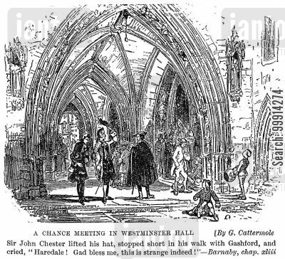 meetings cartoon humor: A chance meeting in westminster hall