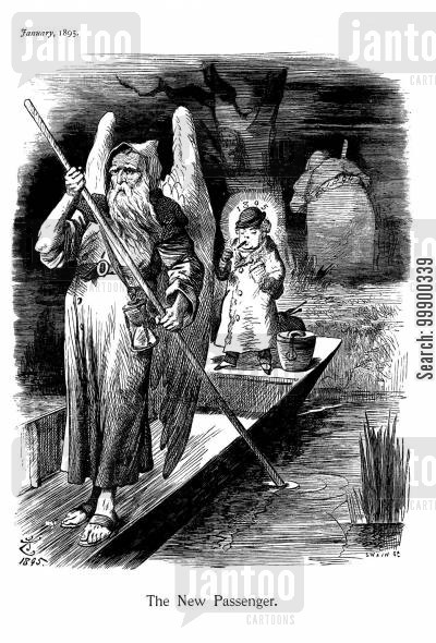 river styx cartoon humor: 1895