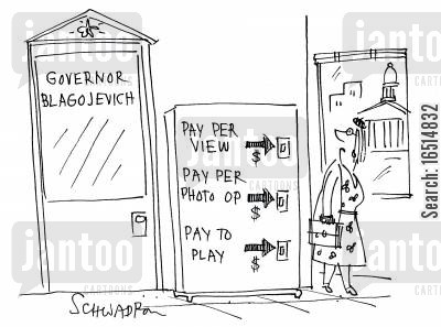 rod blagojevich cartoon humor: Pay Per ViewPay Per OpPay to Play.