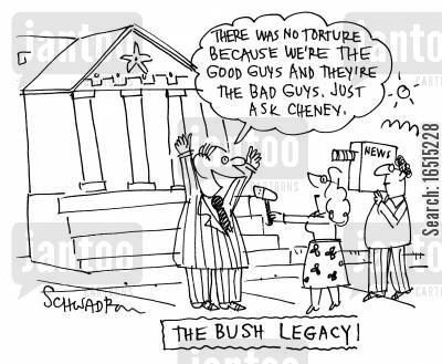 bad guys cartoon humor: The Bush Legacy.