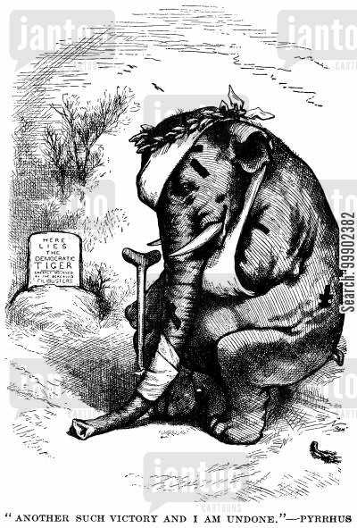 democrats cartoon humor: 1876 Election: An Eventual Pyrrhic Victory for Hayes and Republicans